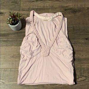 Pink midi body-con dress